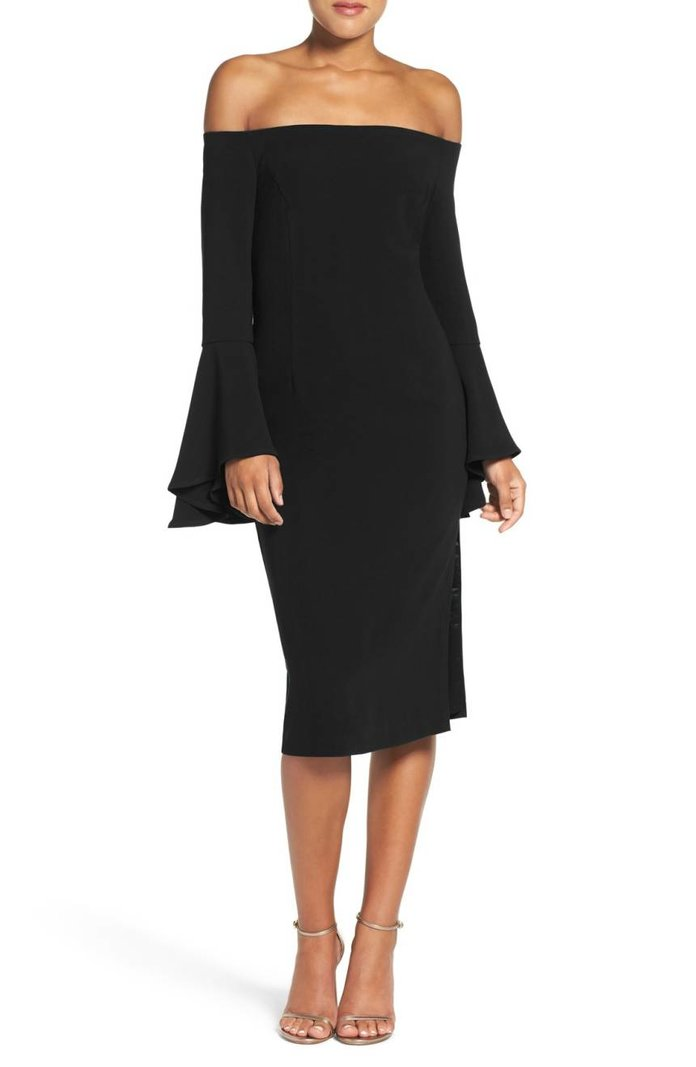 Solange Off-the-Shoulder Midi Dress