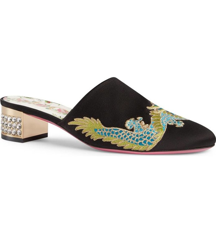 Candy Crystal Embellished Mule