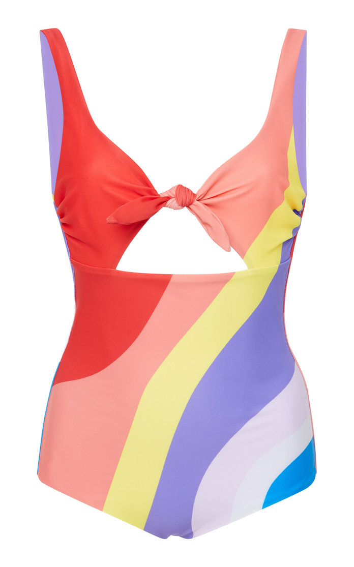 Adeline Cut Out Bow One Piece Swimsuit