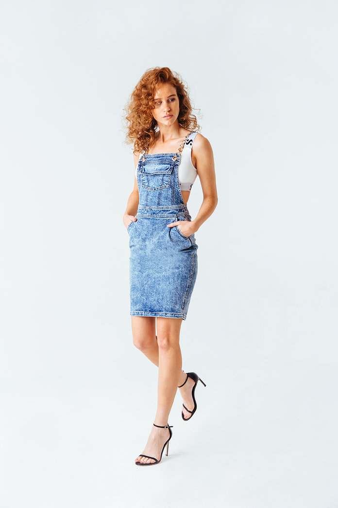 <p>Modern Denim Dress</p>