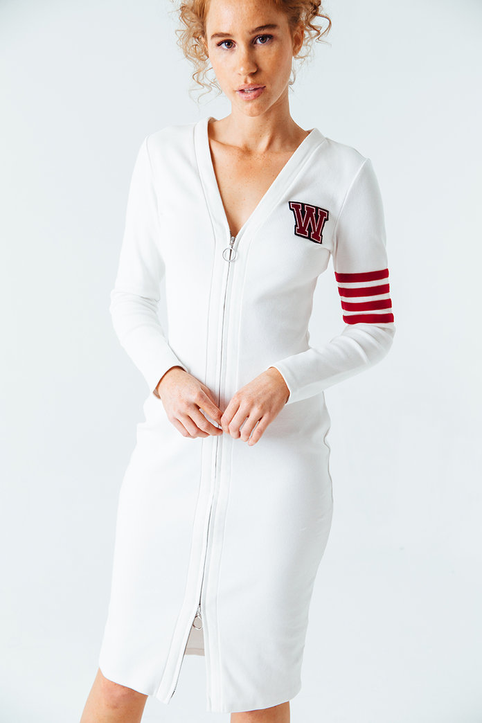 <p>Varsity Zipper Dress</p>