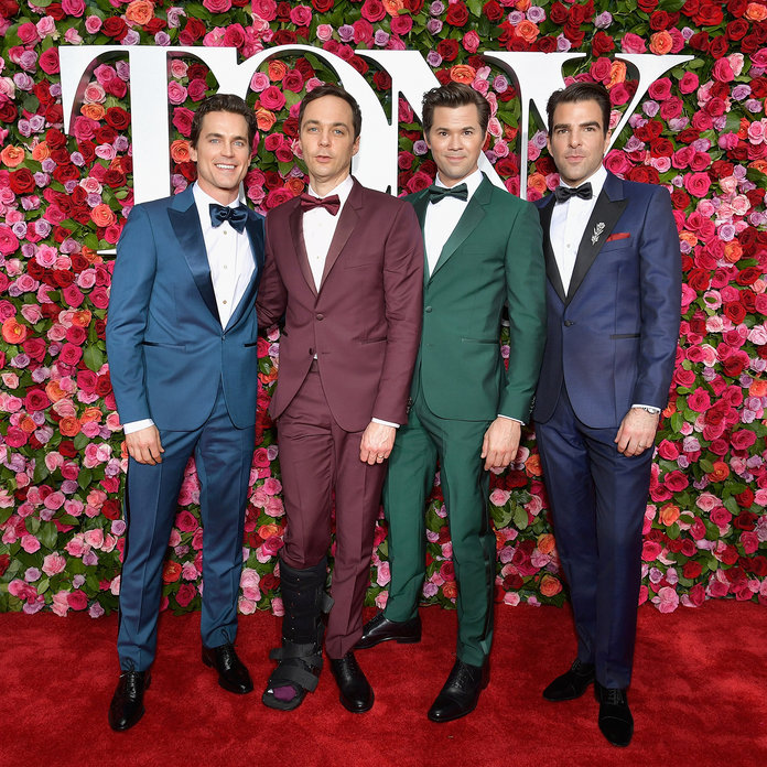 Matt Bomer, Jim Parsons, Andrew Rannells and Zachary Quinto