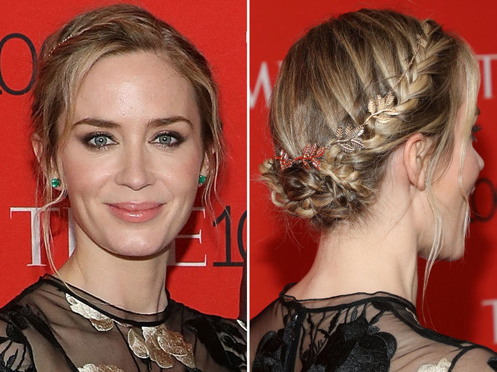 Emily Blunt's Braided Updo
