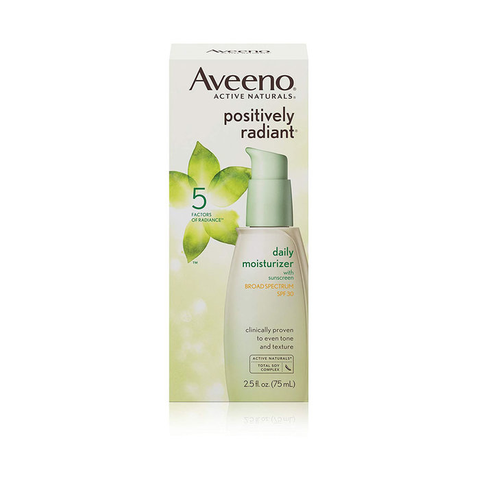 AveenoPositively Radiant Sheer Daily Moisturizing Lotion for Dry Skin with SPF 30