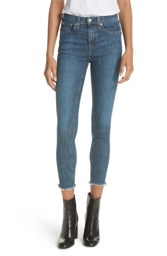 High Waist Skinny Ankle Jeans