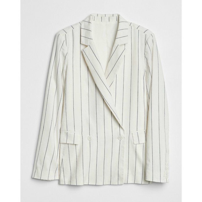 Gap Stripe Girlfriend Blazer
