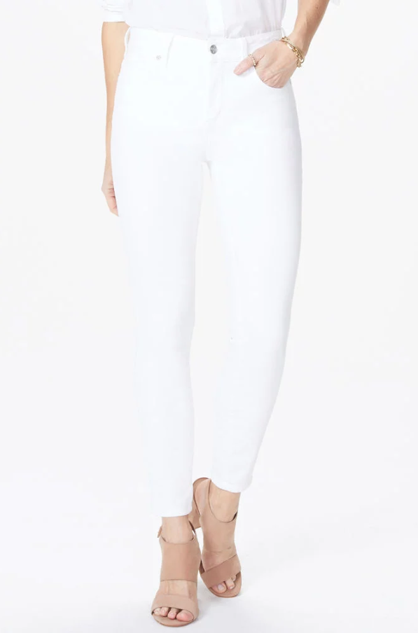 Ami Skinny Ankle Jeans With Slit Clean