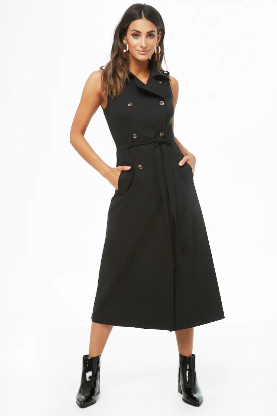 The Belted Trench Dress