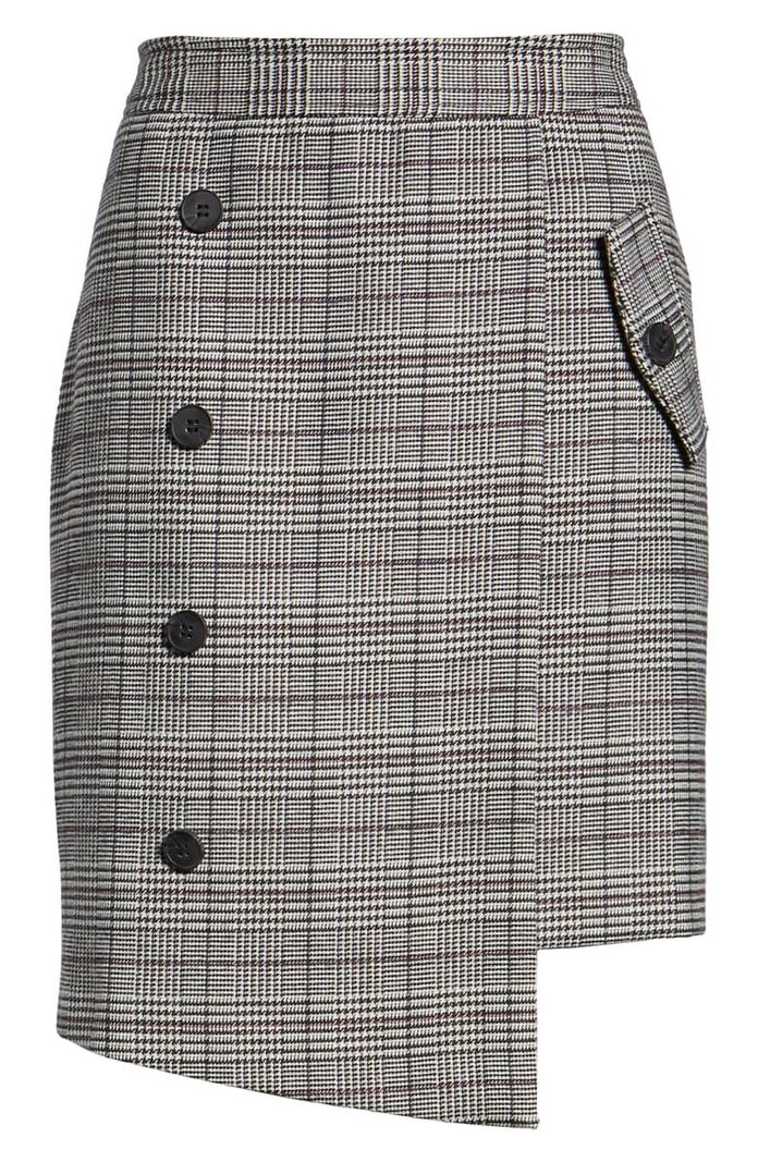 Bianca Houndstooth Button Front Skirt