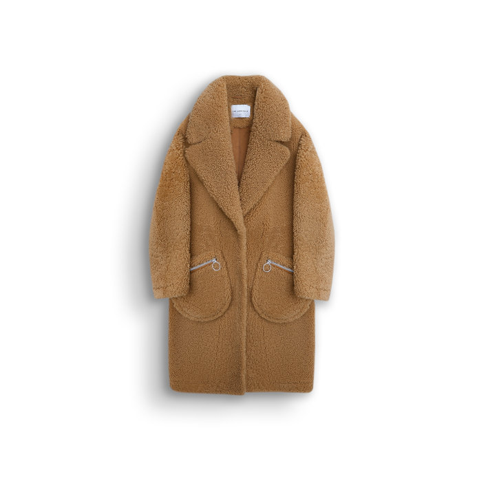 Koda Oversized Teddy Coat in Natural