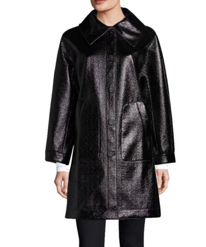 Jane Post High Shine Reversible Coat