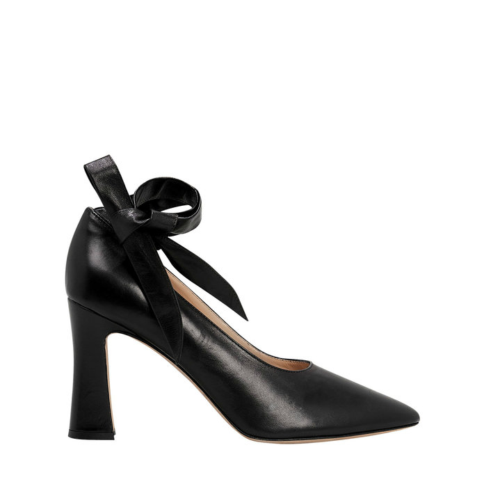 Maryam Nassir Zadeh Bow Ankle-Wrap Pump