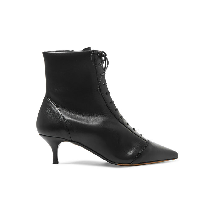 Tabitha Simmons Lace-Up Leather Ankle Boot