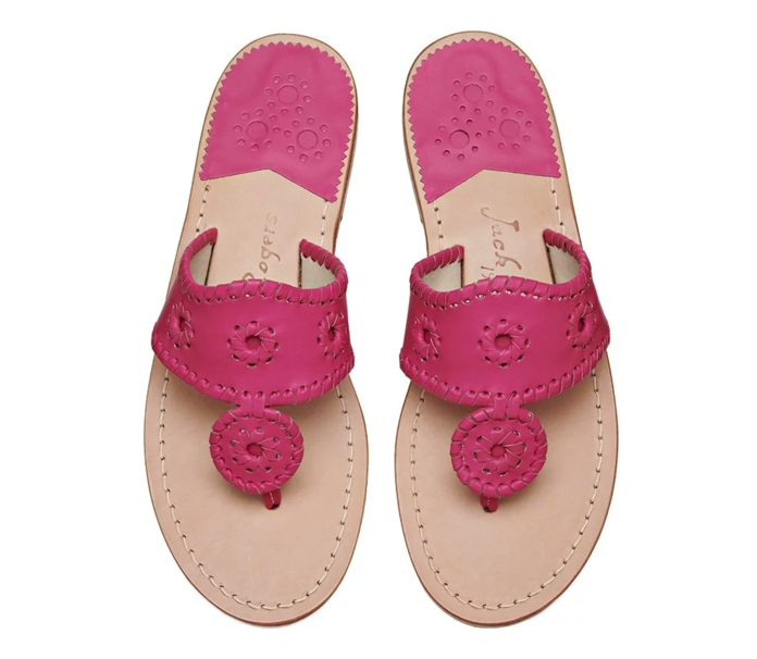 Jack Rogers Exclusive Bright Pink Jacks Flat Sandal