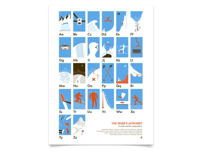 The Skier's Alphabet Print