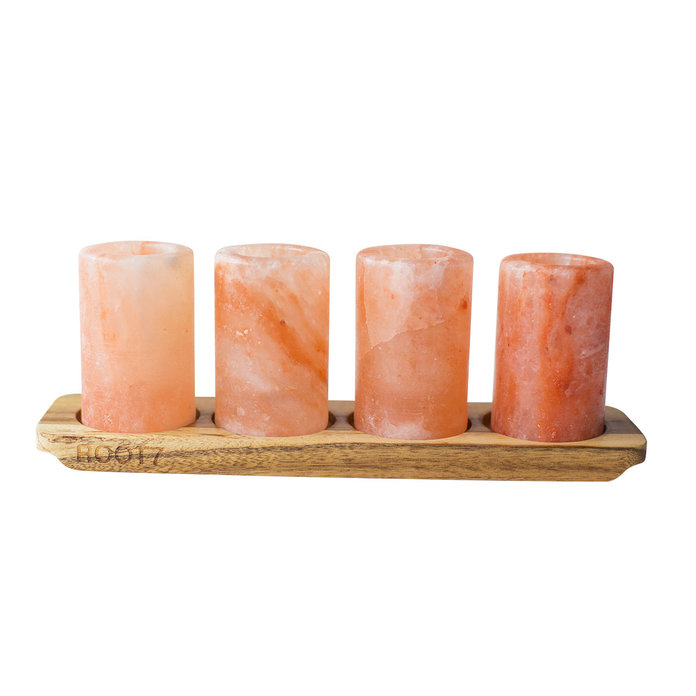 Root7 Himalayan Salt Shot Glasses with Serving Board