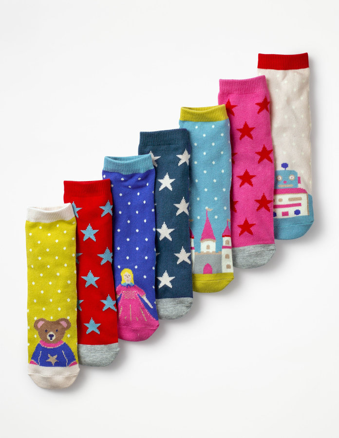 Mini Boden 7 Pack Sock Box