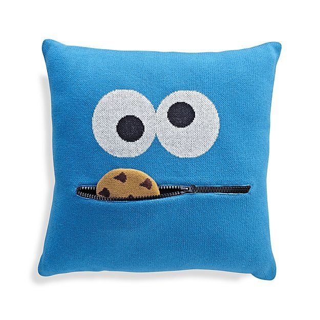 Crate & Barrel Cookie Monster Throw Pillow