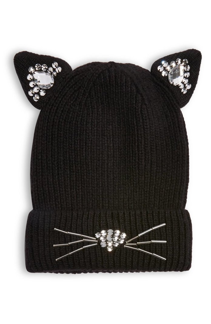 TOPSHOP Cat Embellished Beanie