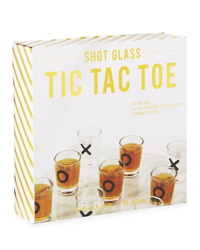 Dallas & Main Shot Glass Tic-Tac-Toe Game