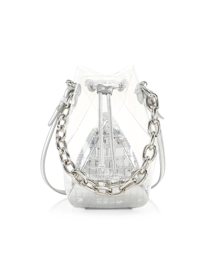 The Volon Mini Mani Clear Bucket Bag