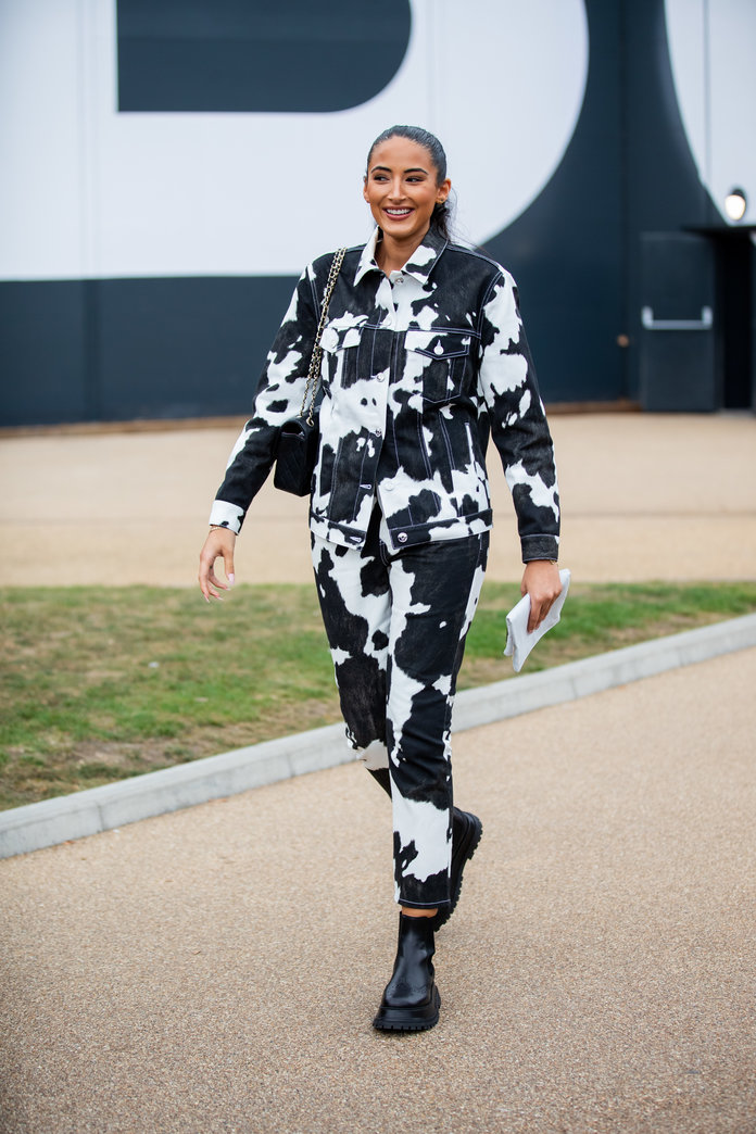 Cow print outfit