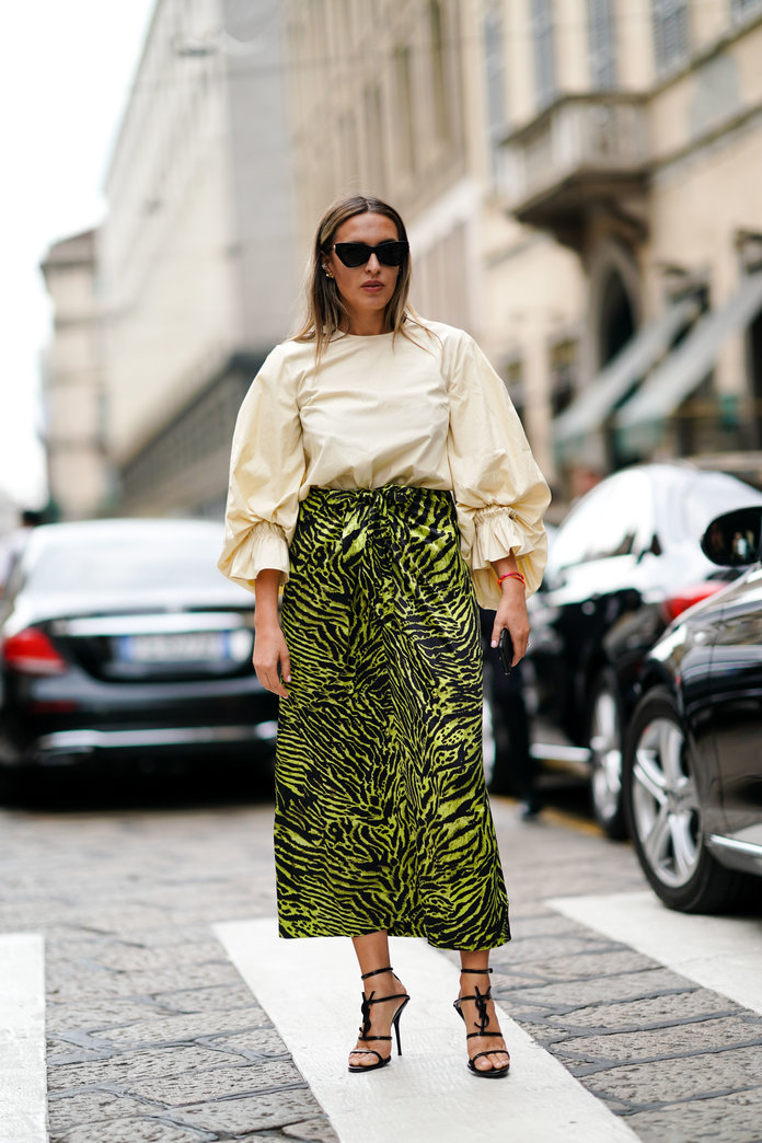 If You're Drawn to a Bold Print Skirt...