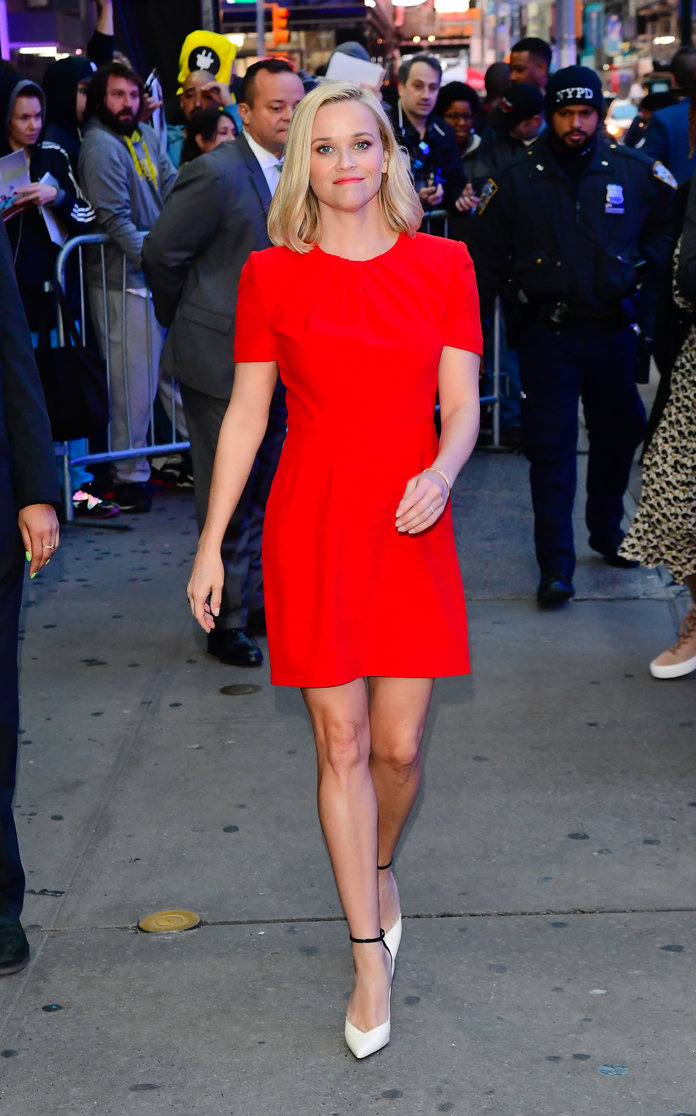 Reese Witherspoon arriving at Good Morning America