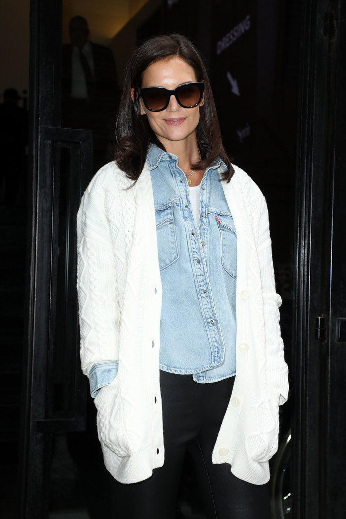 Katie Holmes During NYFW 2019