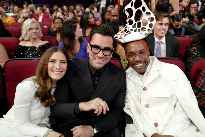 Sarah Levy, Daniel Levy and Billy Porter at the AMAs 2019