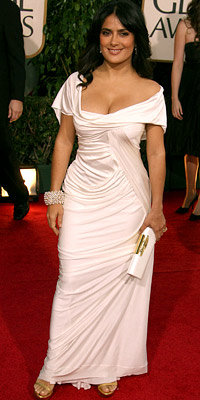Salma Hayek, Rachel Zoe, Dior by John Galliano, Dior, Galliano, Golden Globes, Ugly Betty, stylist, celebrity style