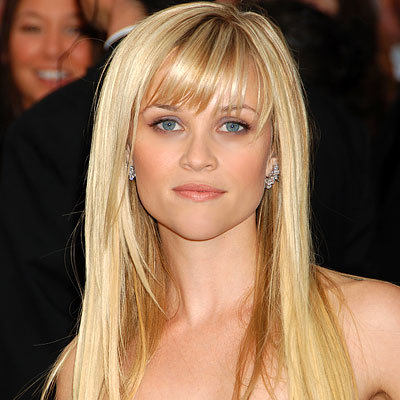 Reese Witherspoon - Top Hair Try-Ons of 2009 - Side-swept Bangs - Get Hollywood Hair