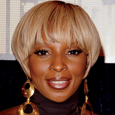 Mary J. Blige - Above-the-ear bob with bangs