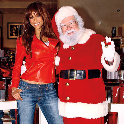 Tyra Banks, Celebs and Santa