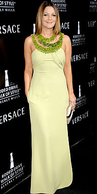 Drew Barrymore, Versace, Look of the Day, celebrity style, Best of 2007