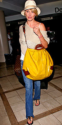 Cameron Diaz's Rubber Bag