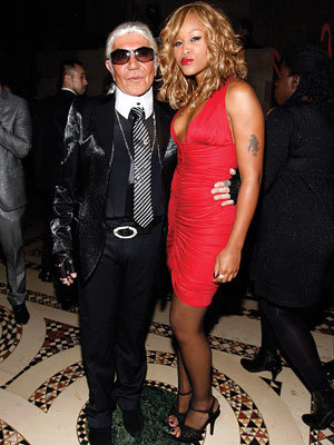 Roberto Cavalli as Karl Lagerfeld and Eve - Our Favorite Stars in Halloween Costumes