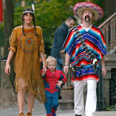 Liv Tyler and Milo Langdon and Royston Langdon - Stars in Halloween Costumes