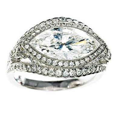 Tiffany & Co. marquise-cut diamond ring