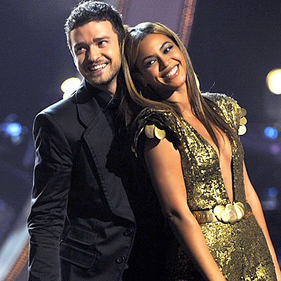 Justin Timberlake and Beyonce at Fashion Rocks