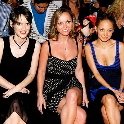 Winona Ryder, Christina Ricci, Nicole Richie, DKNY, Fashion Week, Day 3