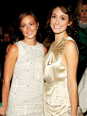 Leighton Meester, Emmy Rossum, NY Fashion Week Spring 2009 Day 6