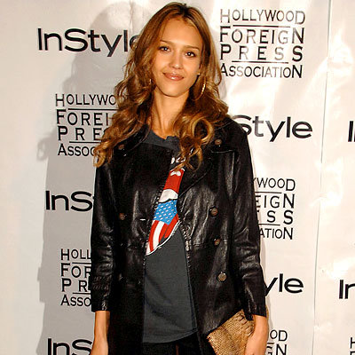 Toronto Must-Haves, Jessica Alba's Leather Jacket, 2008 Toronto Film Festival