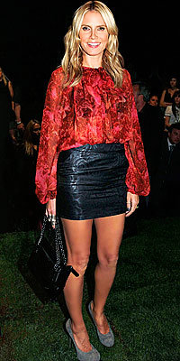 Heidi Klum, Leather Skirts, The Look