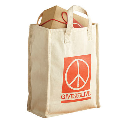 HOLIDAY GIFT GUIDE, GIFTS THAT GIVE BACK, West Elm give the way you live reusable tote