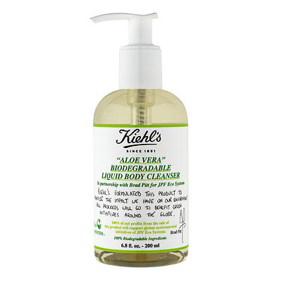 HOLIDAY GIFT GUIDE, GIFTS THAT GIVE BACK, Kiehls Aloe Vera Biodegradable Liquid Body Cleanser