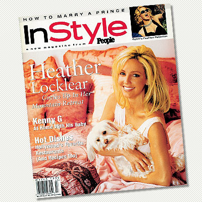 15 Years of InStyle - InStyle Firsts - Dog on the Cover - Heather Locklear and Harley