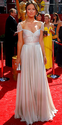 Olivia Wilde in Reem Acra, 2008 Emmy Awards, Fashion