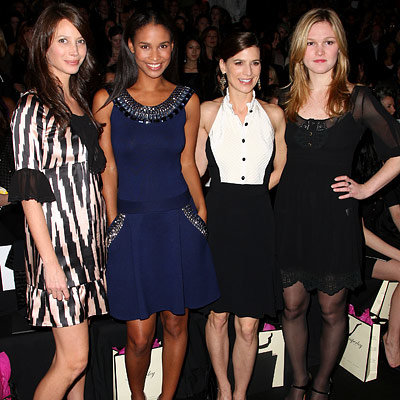 Christy Turlington, Joy Bryant, Perrey Reeves, Julia Stiles, Temperley London, Fashion Week Day Six