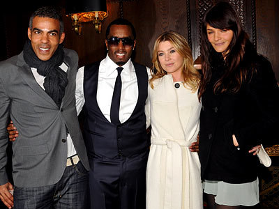 Chris Ivery, Sean Combs, Ellen Pompeo and Helena Christensen